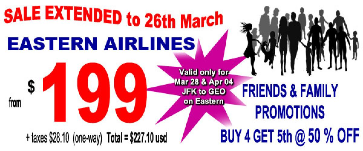 199 Sale on Eastern Airlines